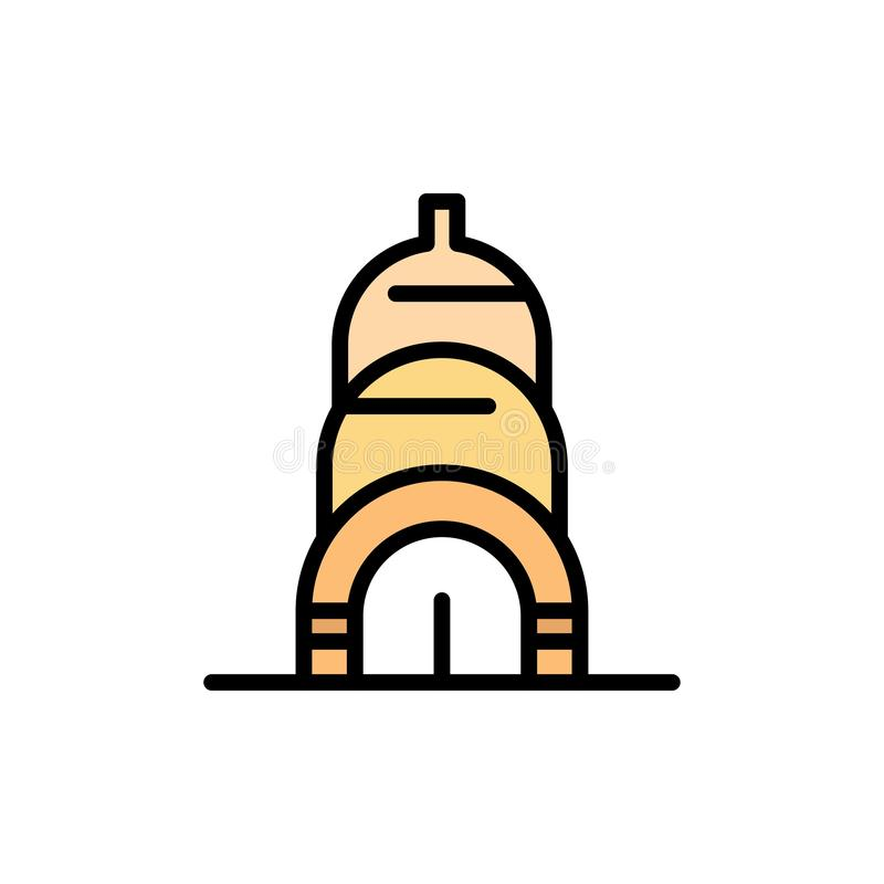 Chrysler, Building, Usa  Flat Color Icon. Vector icon banner Template royalty free illustration