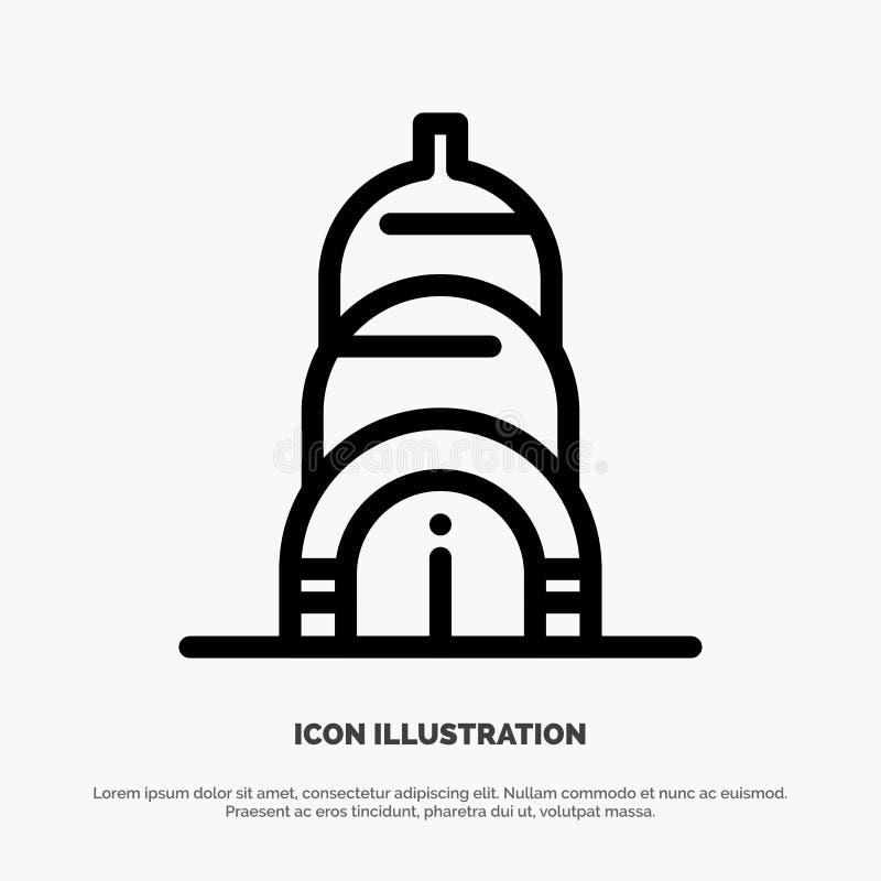 Chrysler, Building, Usa Line Icon Vector vector illustration