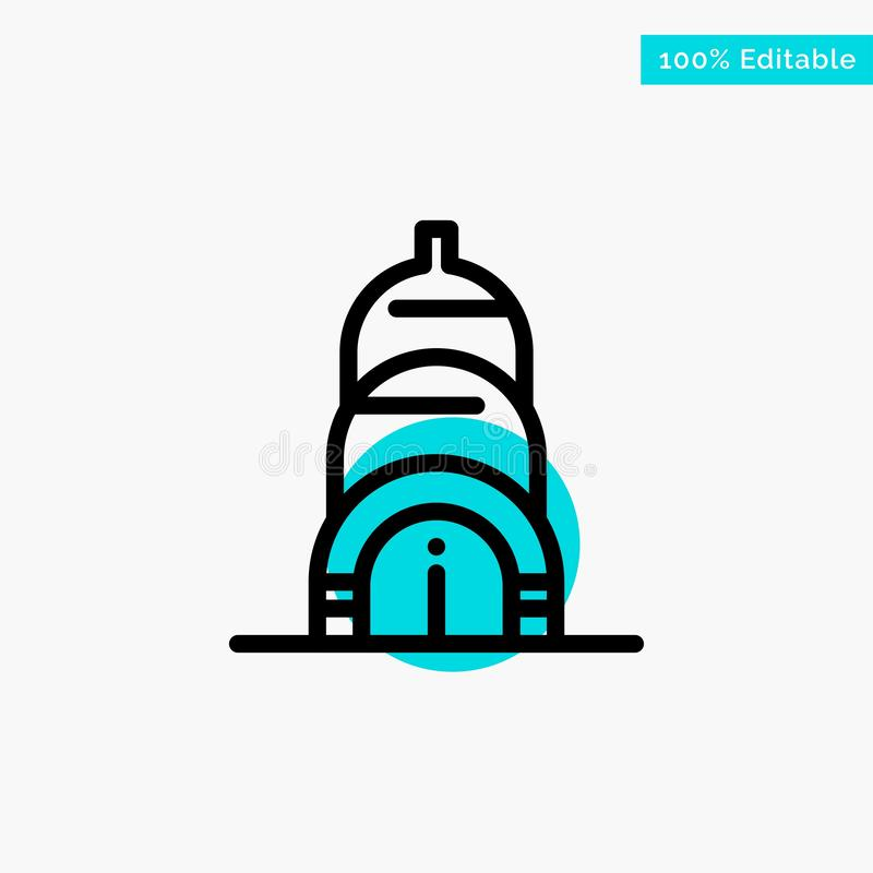Chrysler, Building, Usa turquoise highlight circle point Vector icon royalty free illustration