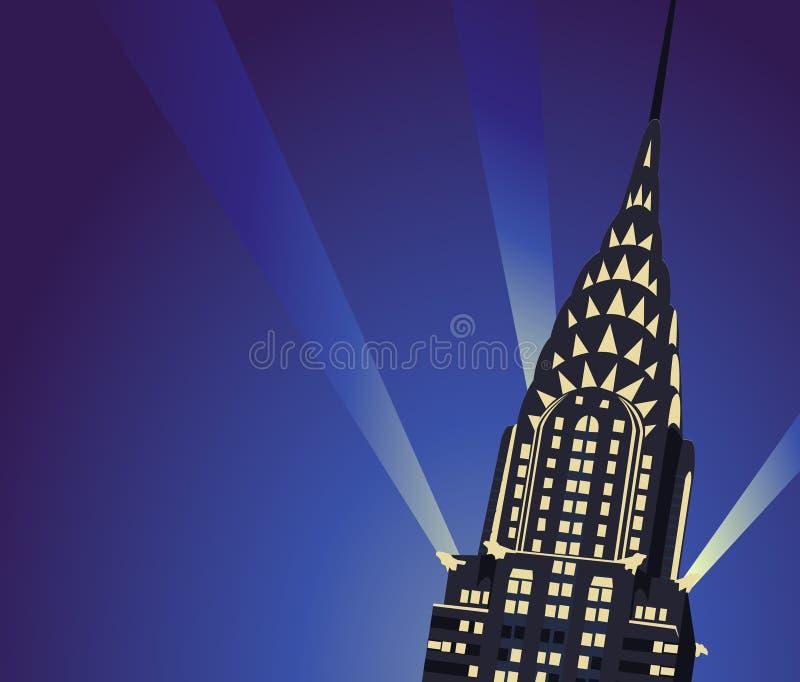 Chrysler byggnad stock illustrationer