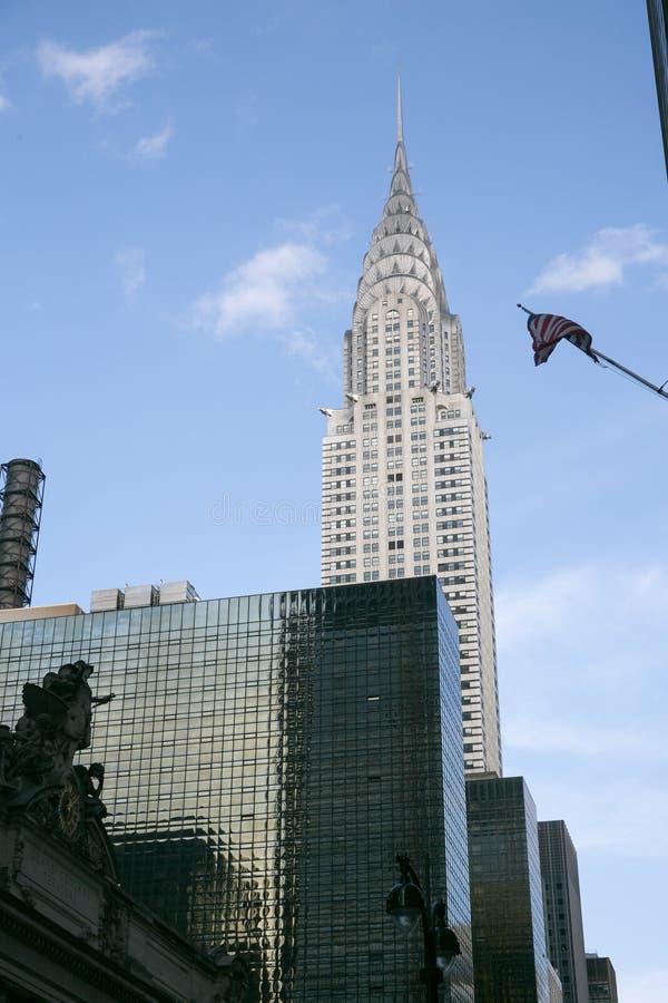 Chrysler byggnad, Manhattan, New York royaltyfri illustrationer