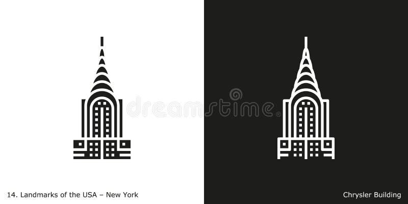 Chrysler byggnadssymbol royaltyfri illustrationer