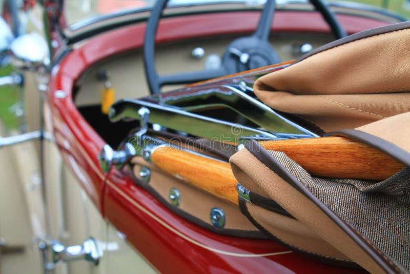 Classic american car convertible top detail. CHRYSLER CD 8 DELUXE ROADSTER 1931 Classic american car convertible top detail stock photography