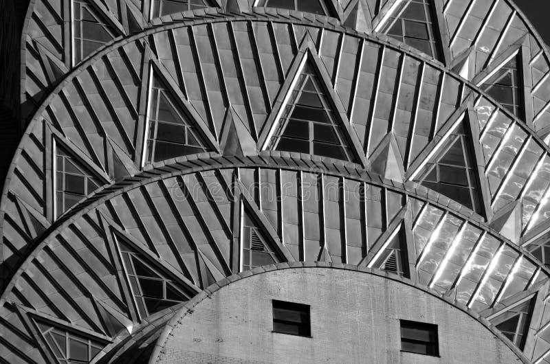 Chrysler-Gebäudefassade stockbild
