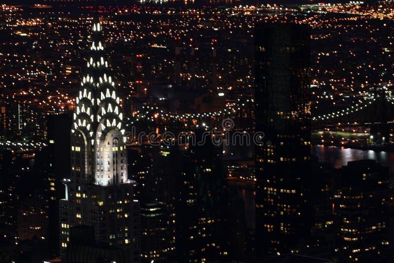 Chrysler-Noche foto de archivo libre de regalías