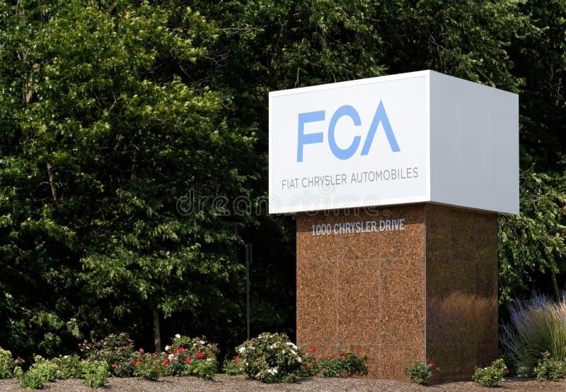 Chrysler World Headquarters royalty free stock image
