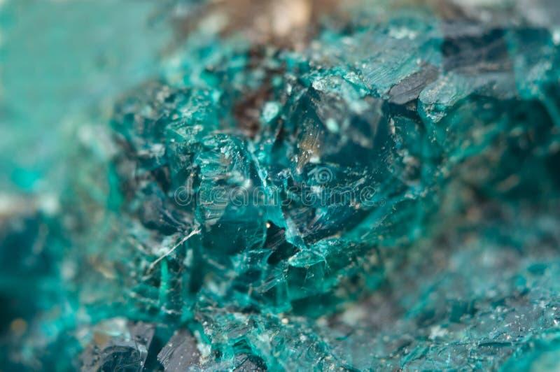Chrysocolla est un cyclosilicate de cuivre hydraté photographie stock libre de droits