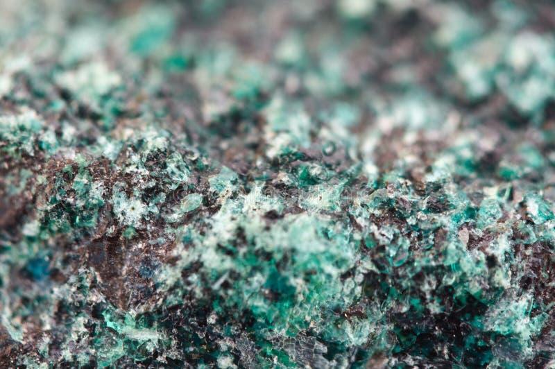 Chrysocolla est un cyclosilicate de cuivre hydraté images stock