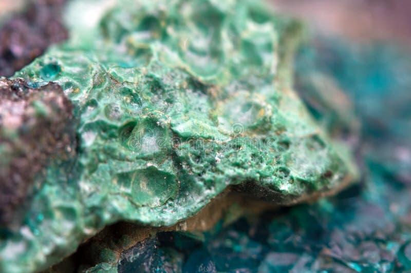 Chrysocolla est un cyclosilicate de cuivre hydraté photographie stock