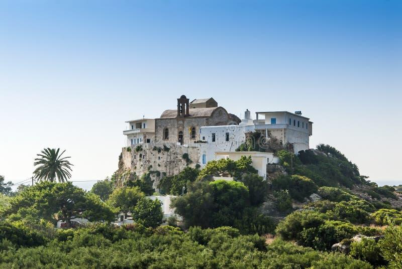 Chrysoskalitissa修道院克利特 库存照片