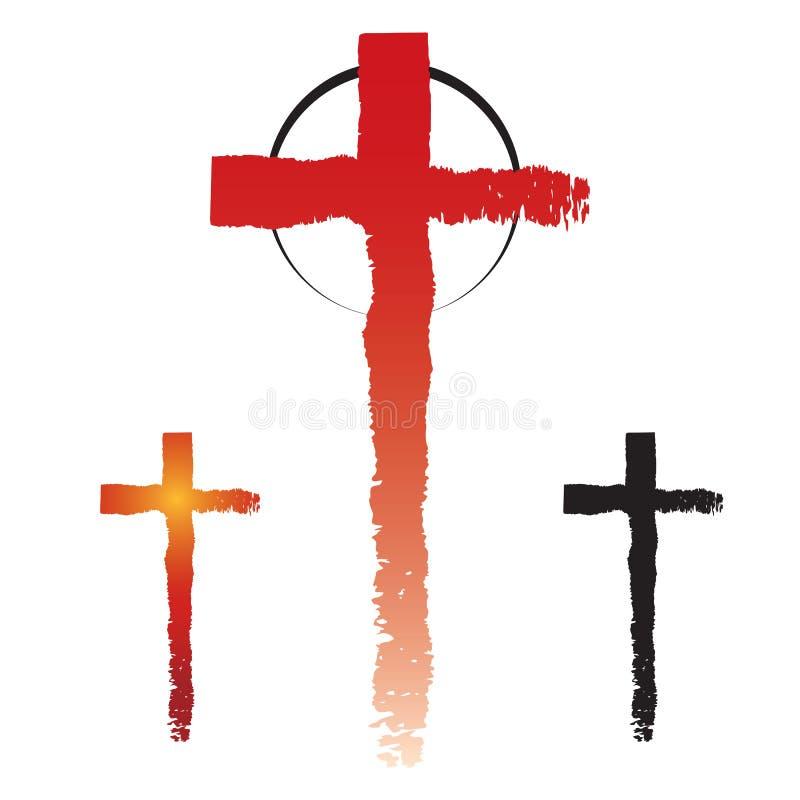 Chrystianizmów przecinający symbole ilustracji