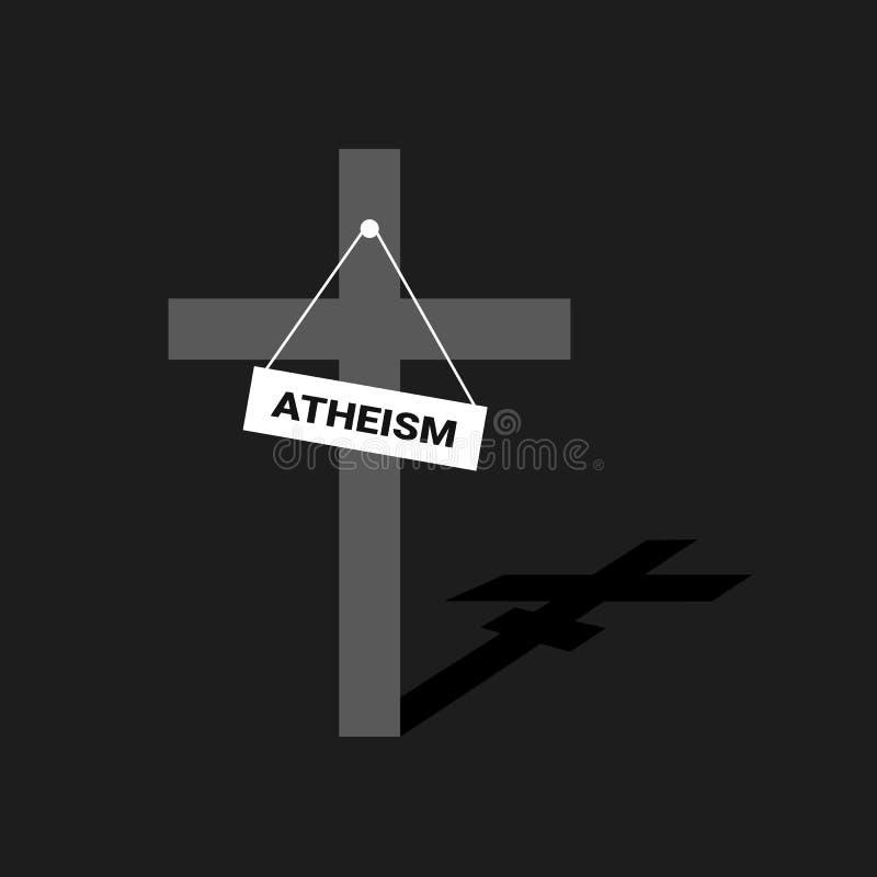 Chrystianizm i ateizm royalty ilustracja