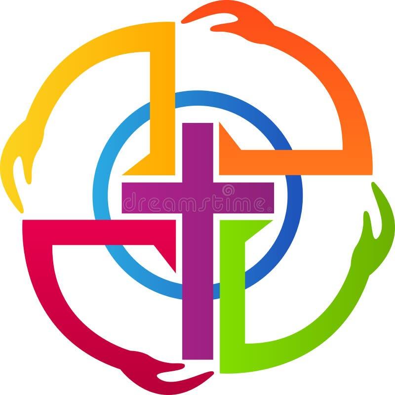 Chrystianizm ręki ilustracja wektor