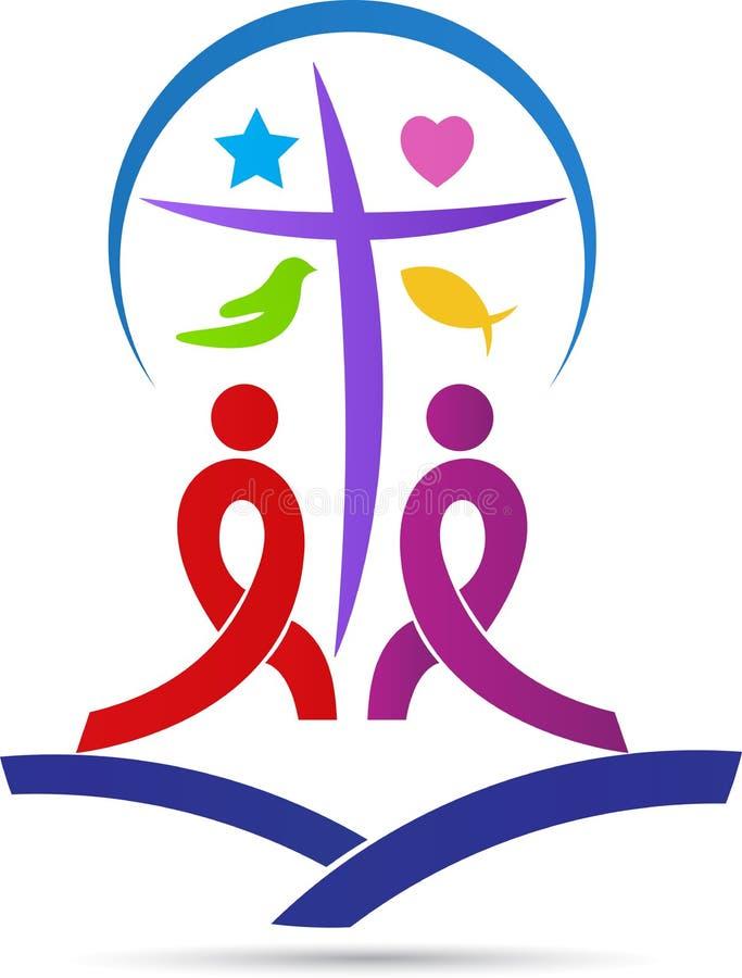Chrystianizmu logo ilustracja wektor