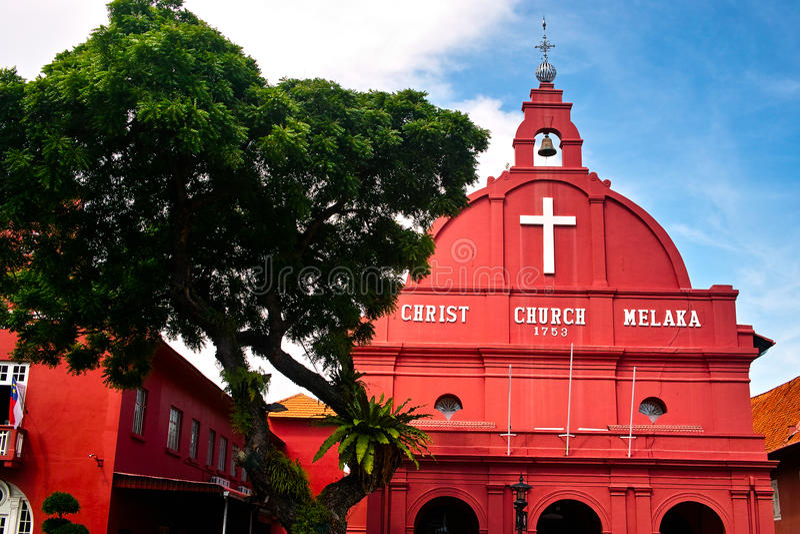 Chrystus kościół Melaka fotografia stock