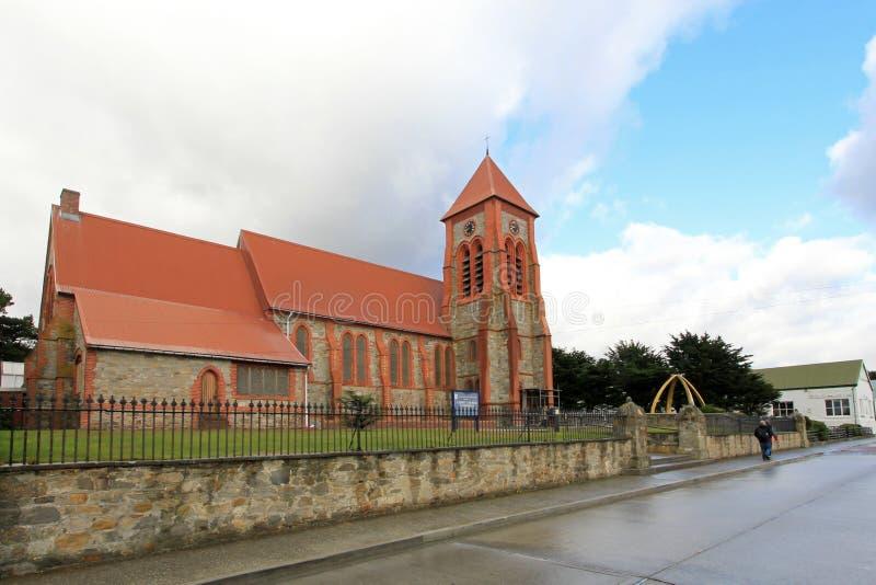 Chrystus Kościelna katedra w Portowym Stanley, Falkland wyspy fotografia stock