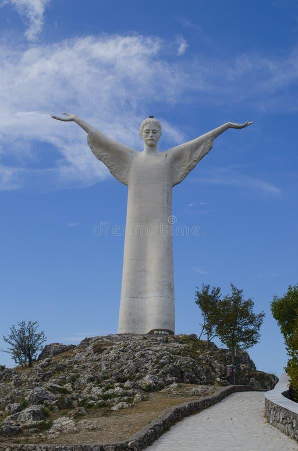 Chrystus odkupiciel Maratea Basilicata Włochy zdjęcie stock