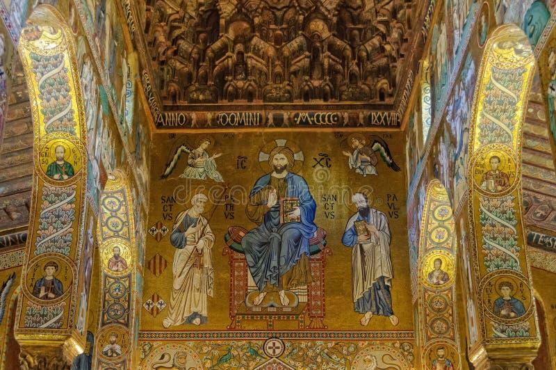 Chrystus w majestacie z Peter, Paul i Palermo - fotografia stock