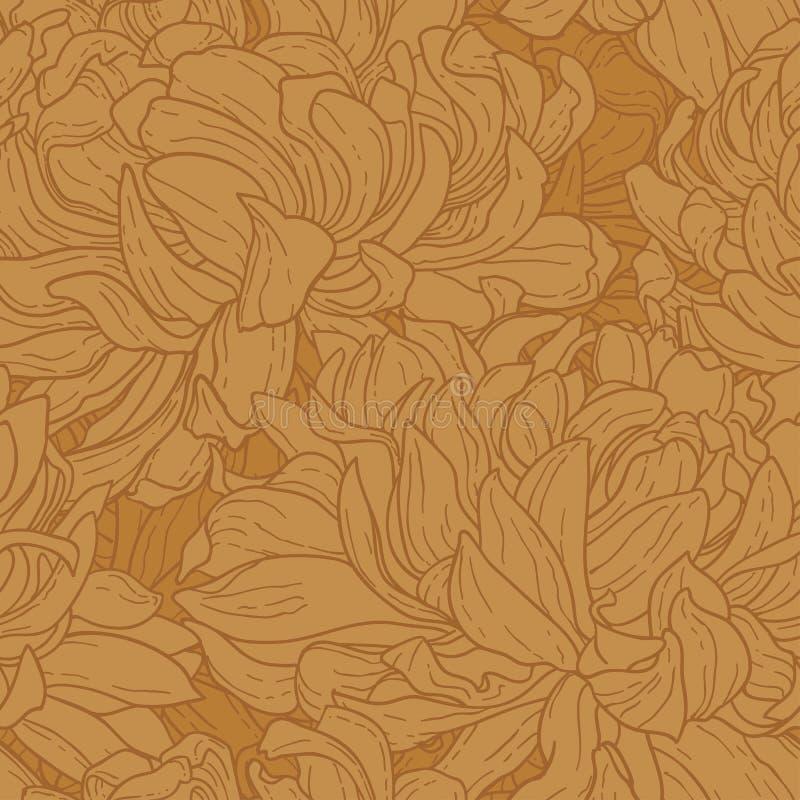 chryzantemy bezszwowy deseniowy royalty ilustracja