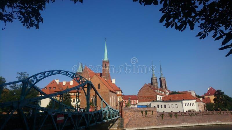 Chrzciciela di Katedra Jana del briciolo del ³ w Wroclaw del ostrà di Tomski immagini stock libere da diritti