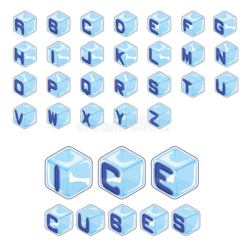 Chrzcielnic kostek lodu styl na białym tle ilustracja wektor