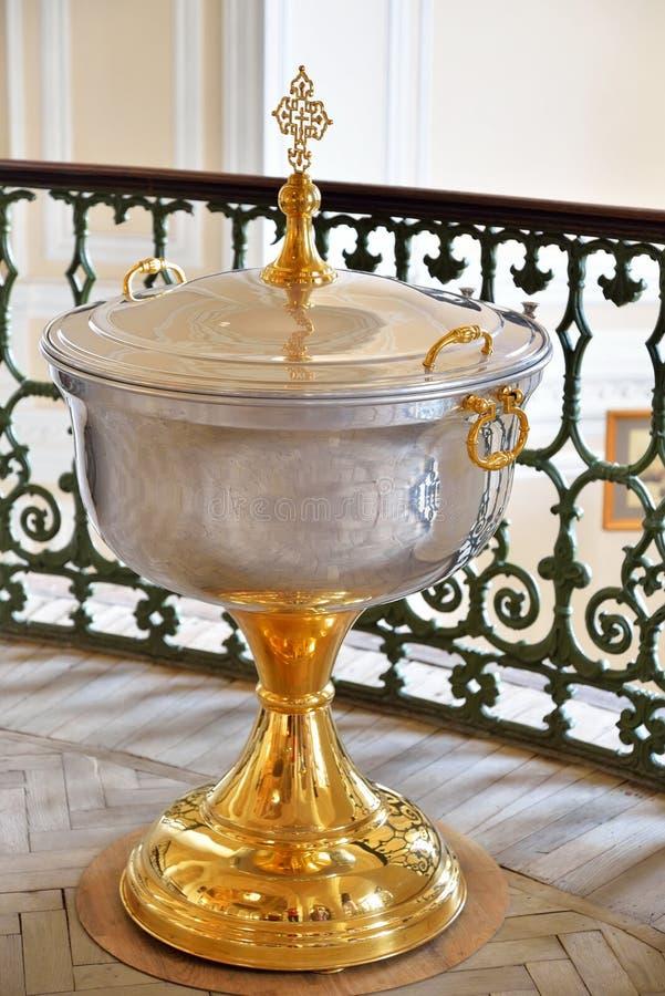 Chrzcielnica kaplica Święta trójca w Gatchina pałac zdjęcie royalty free