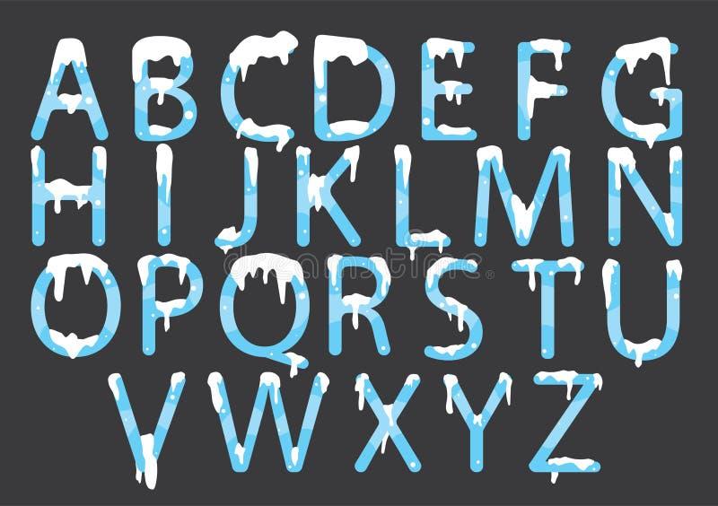 Chrzcielnica A, Z, P dla listowego projekta ilustracja wektor