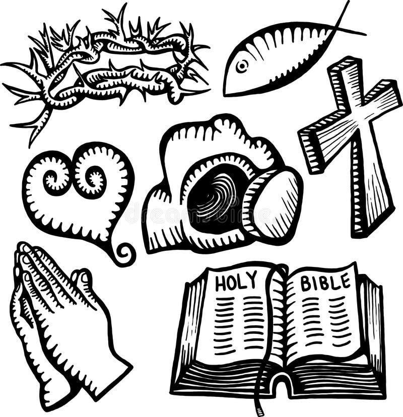 Chrześcijańscy przedmioty royalty ilustracja