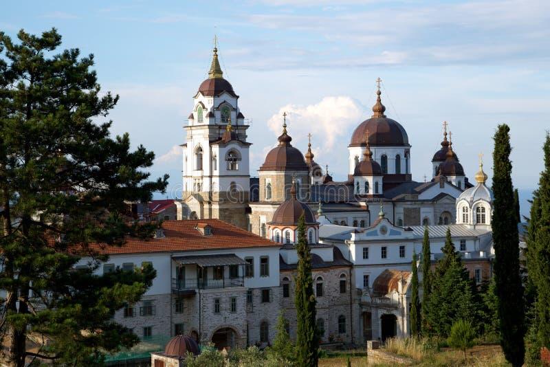Chrześcijańska świątynia na górze Athos obraz royalty free