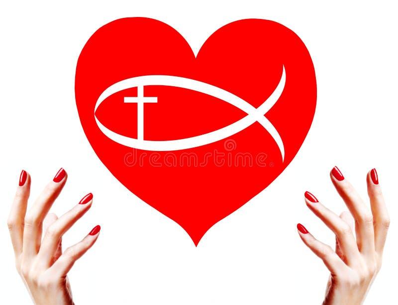 chrześcijańska miłość ilustracja wektor