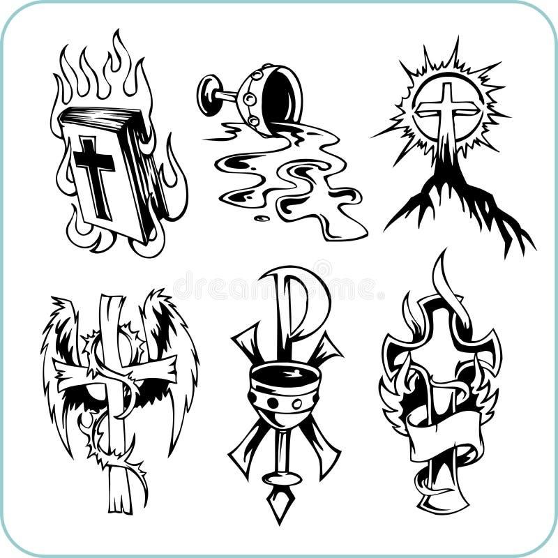 Chrześcijańska religia - wektorowa ilustracja. royalty ilustracja
