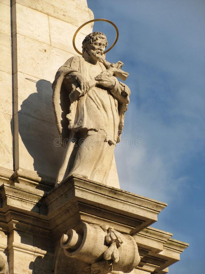 Chrześcijańska rzeźba w Buda kasztelu w Węgry, Budapest fotografia stock