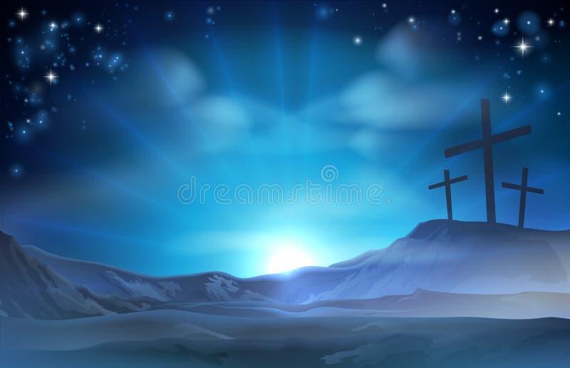 Chrześcijańska Wielkanocna ilustracja ilustracji