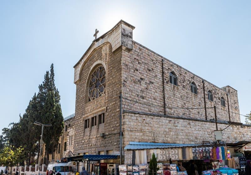 Chrześcijański monaster lokalizować na Derekh Shechem ulicie w Jerozolima, Izrael - Nablus droga - zdjęcia royalty free