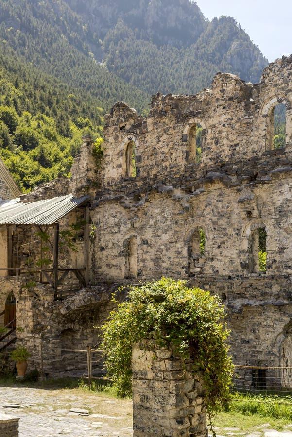 Chrześcijański, prawosławny kościół Saint Dionysius zbliżenie Grecja, jednostka regionalna Pieria obraz royalty free