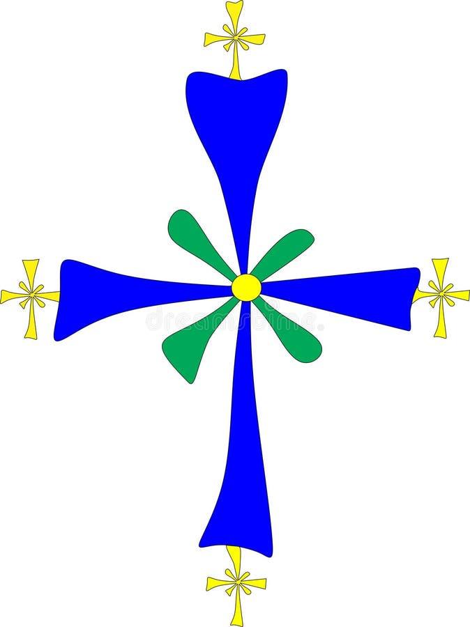 Chrześcijański symbol: Koptyjski krzyż ilustracji