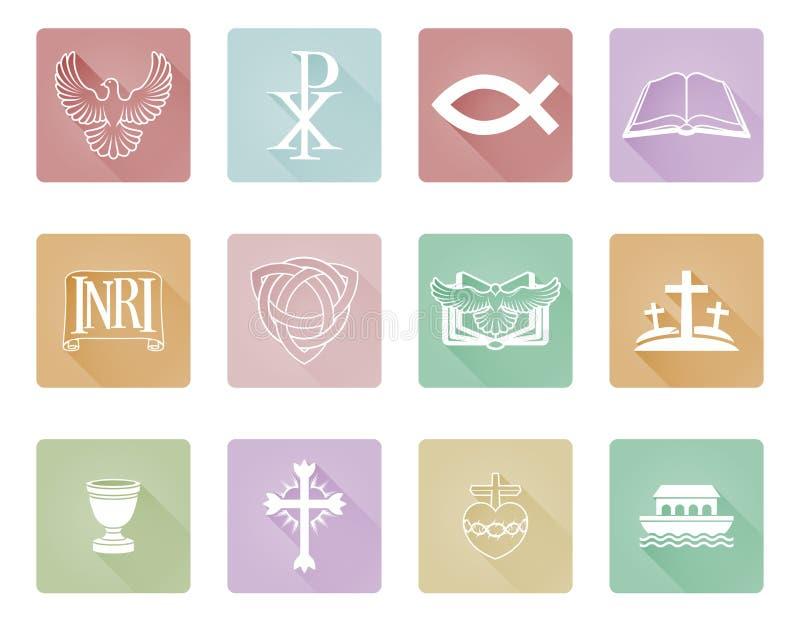 Chrześcijańskie ikon serie Ustawiać ilustracji