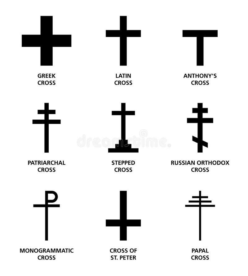 Chrześcijanów przecinający warianty royalty ilustracja