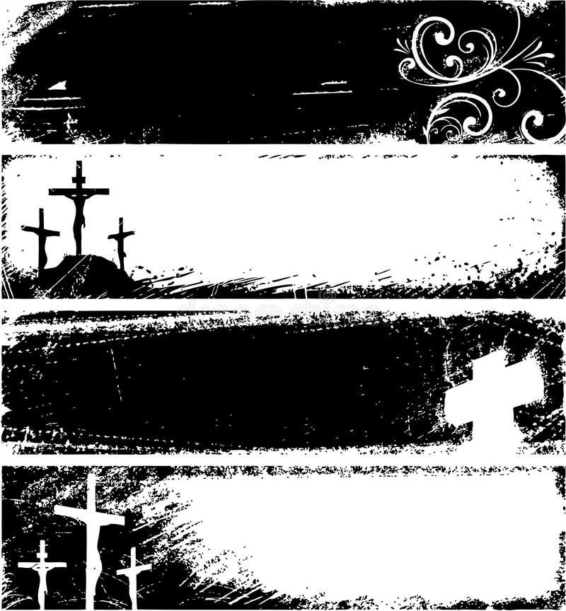 chrześcijanin obramia grunge royalty ilustracja
