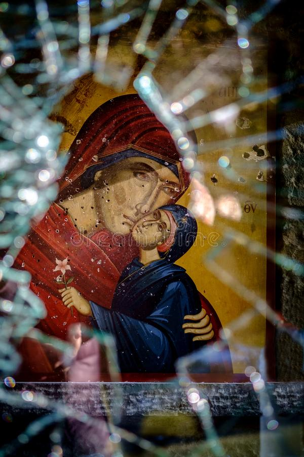 Chrześcijanin ofiary nieusprawiedliwiona przemoc zdjęcia royalty free