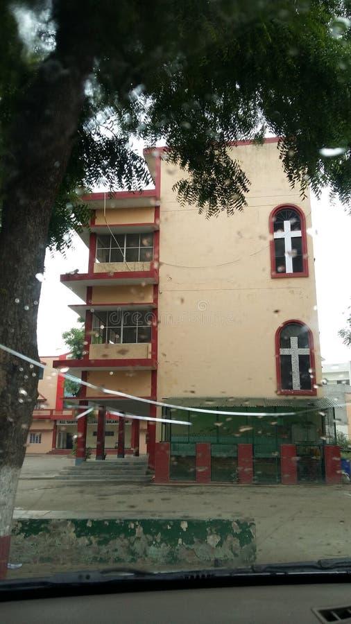 Chrześcijanin szkoła w ind fotografia stock