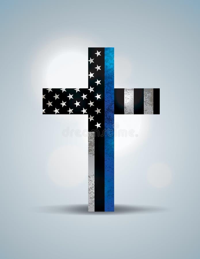 Chrześcijanina egzekwowania prawa poparcia Przecinający symbol royalty ilustracja