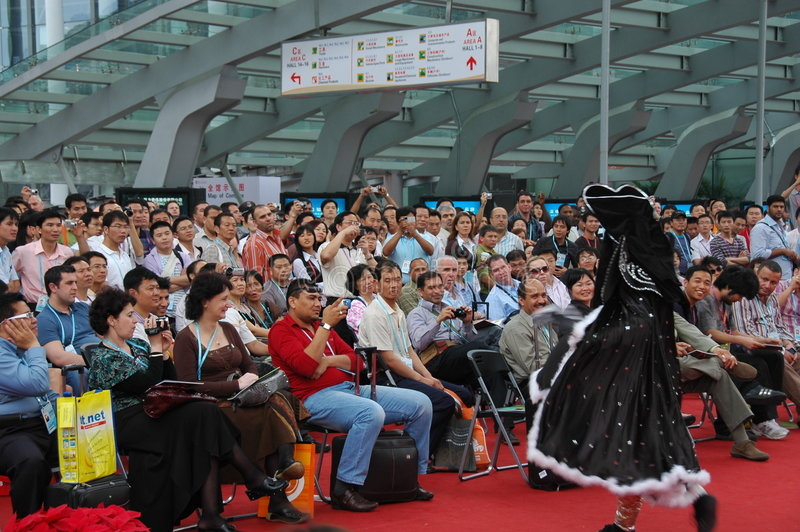 Chuan Opera show. In the 105th session of China Import and Export Fair, which is held in April 15th-May 7th,2009. It has 3 phases.(Phase1: April 15th - 19th stock images
