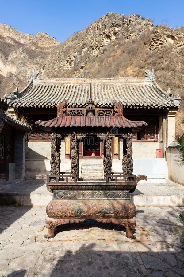 Chuandixia, Hebei province, China: the interior courtyard of Guandi temple royalty free stock images