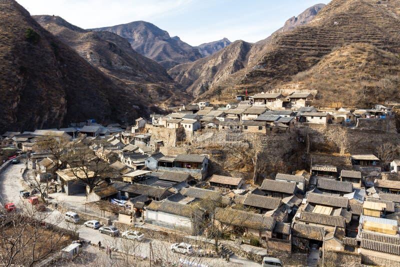 Chuandixia, prowincja hebei, Chiny: antyczna Ming dynastii wioska blisko Pekin obraz stock