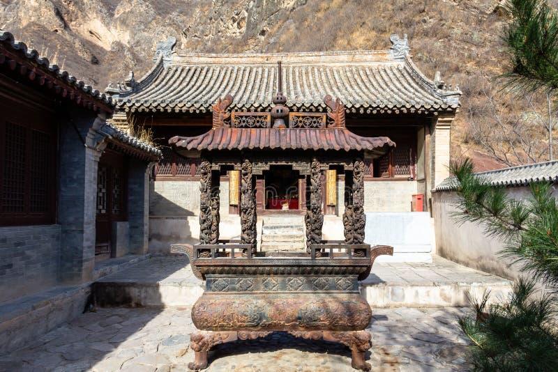 Chuandixia, prowincja hebei, Chiny: wewnętrzny podwórze Guandi świątynia obraz royalty free