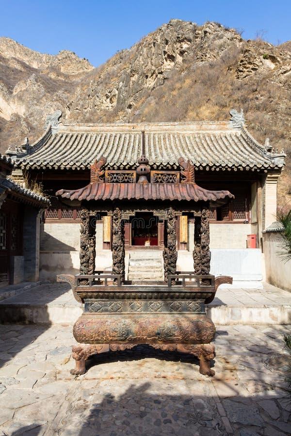 Chuandixia, prowincja hebei, Chiny: wewnętrzny podwórze Guandi świątynia obrazy royalty free