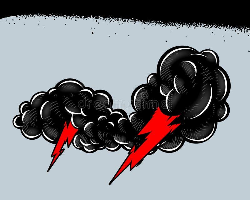 Chubasco con truenos libre illustration
