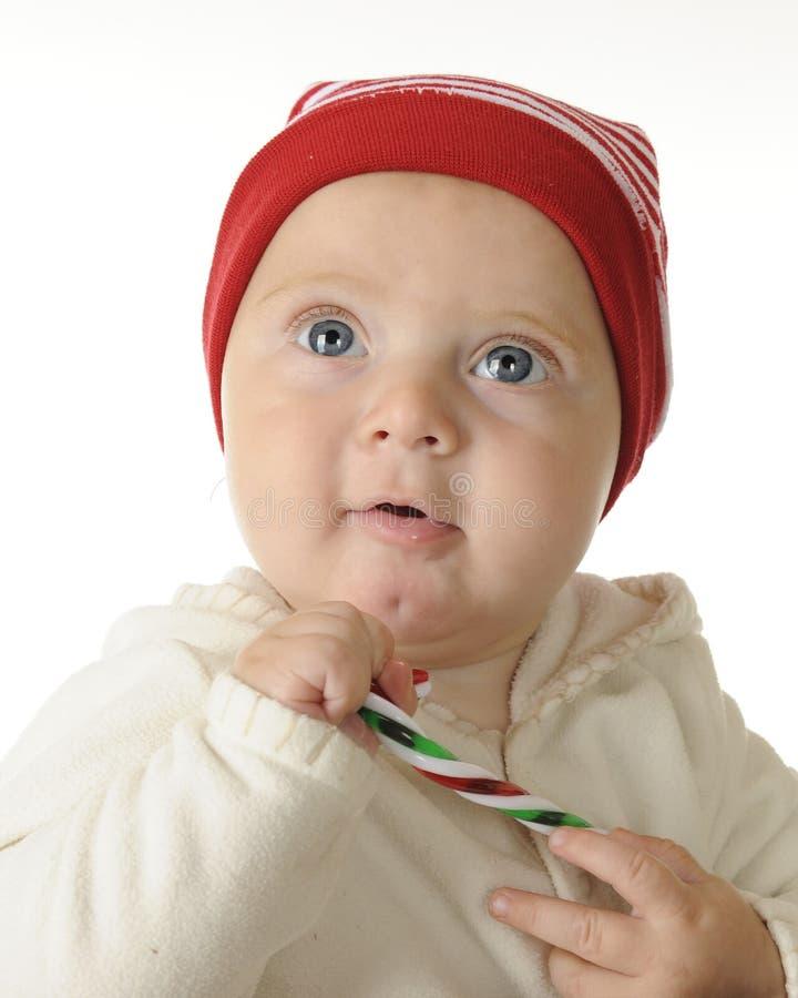 Chubby μωρό Χριστουγέννων στοκ εικόνες με δικαίωμα ελεύθερης χρήσης