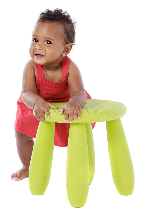 Download Chubby african baby stock image. Image of green, clinging - 7204161